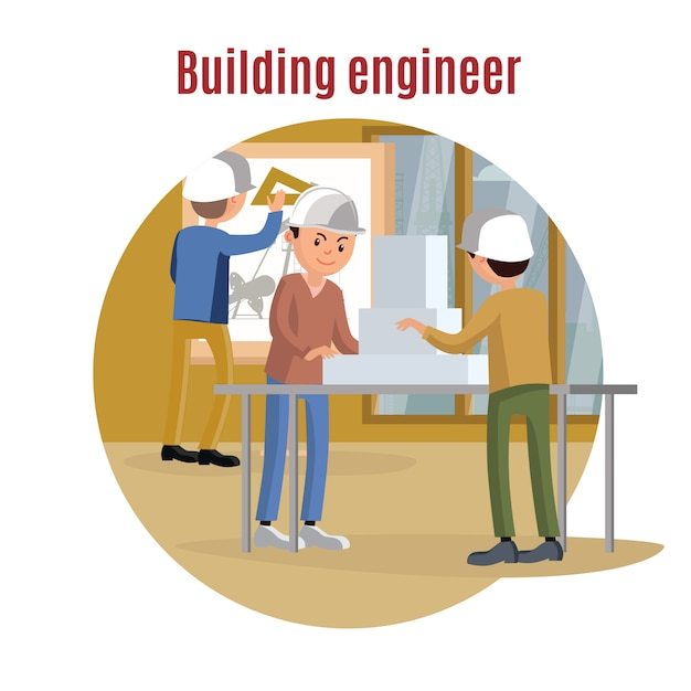 Concetto di ingegneria edile Vettore gratuito