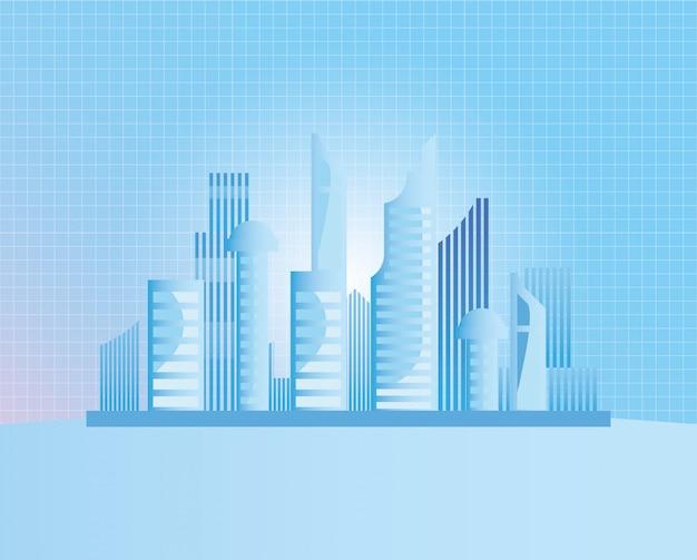 Building future architecture Premium Vector