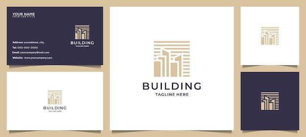 Создание вдохновения для логотипа с помощью концепт-арта и визитной карточки Premium векторы