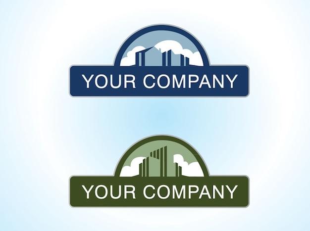 Buildings architecture logo vector design Free Vector