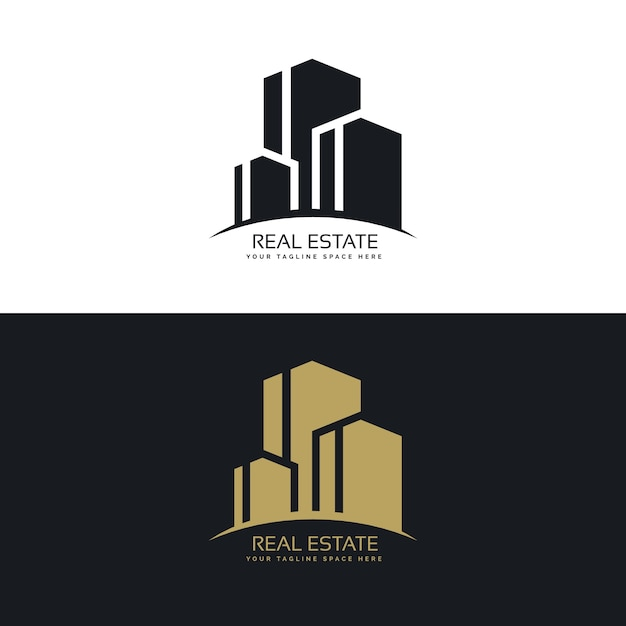 Free Vector   Buildings real estate logo