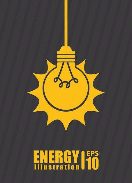 Bulb over gray  background Free Vector