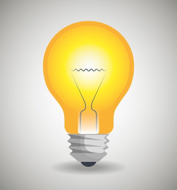 Bulb icon Free Vector