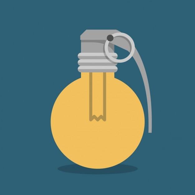 手榴弾形状の電球 無料ベクター