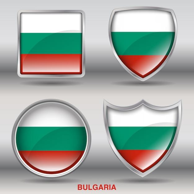 ブルガリアフラグベベル図形アイコン Premiumベクター