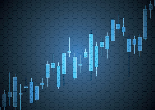 Bulish stock market candle stick Premium Vector