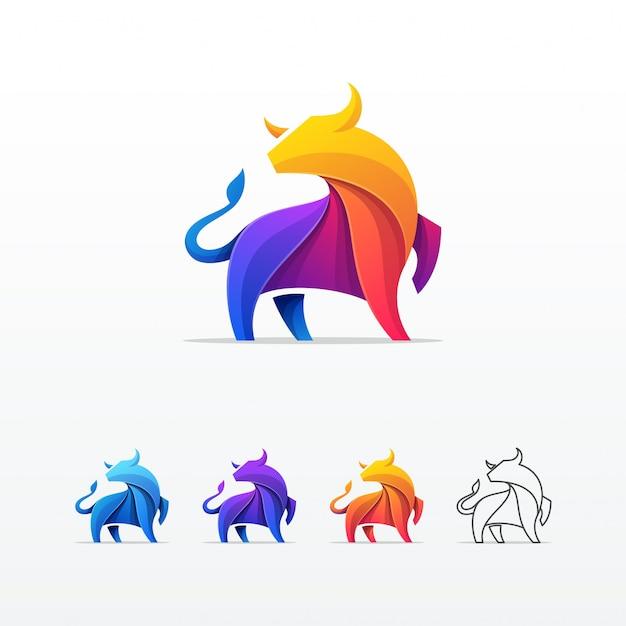 Bull colorful vector template Premium Vector