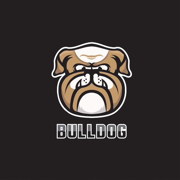 Bull dog esport Premium векторы