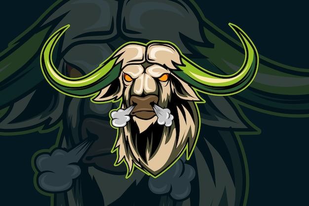 Шаблон логотипа команды bull e-sports Premium векторы