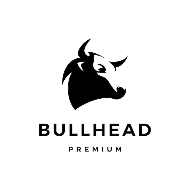 Bull head logo icon illustration Premium Vector