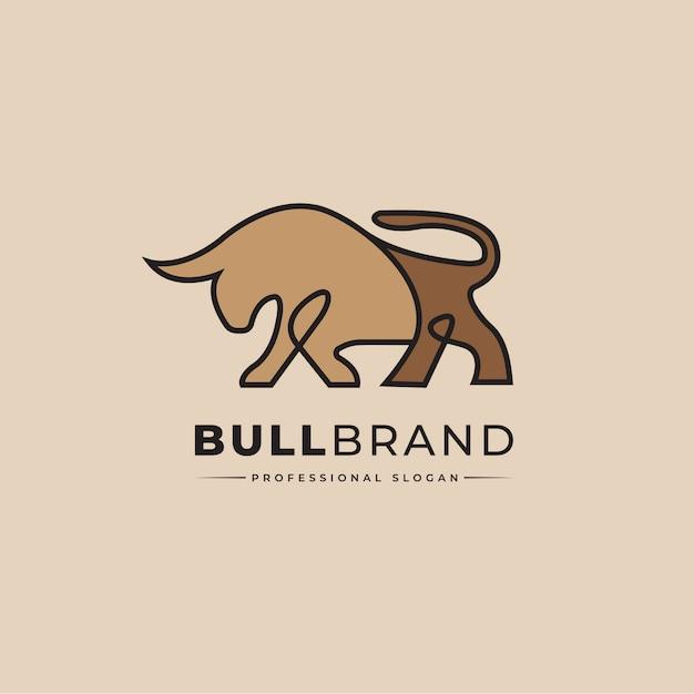 Bull logo Premium Vector