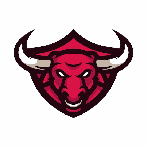 bull vector logo icon illustration mascot vector premium download rh freepik com Bull Head Silhouette Vector ball vector