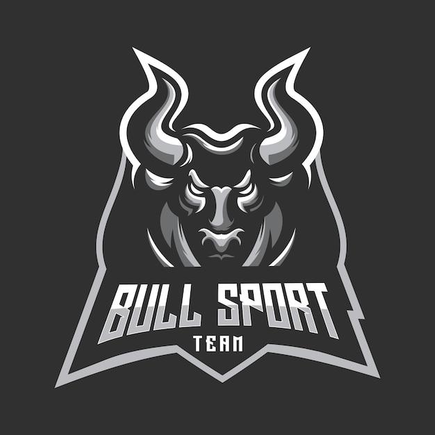 Логотип спортивной команды bull Premium векторы
