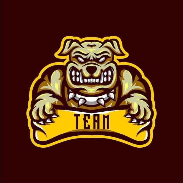 Bulldog esports logo design Premium Vector