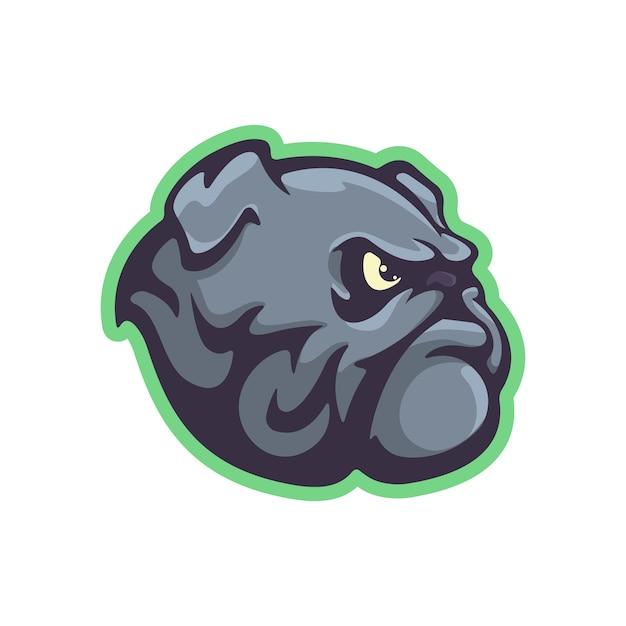 Bulldog mascot in cartoon style Premium Vector