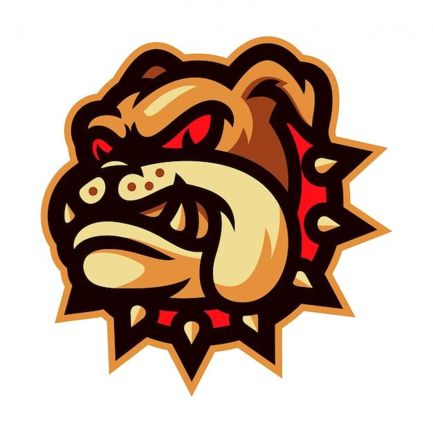 Bulldog mascot logo vector illustration Premium Vector