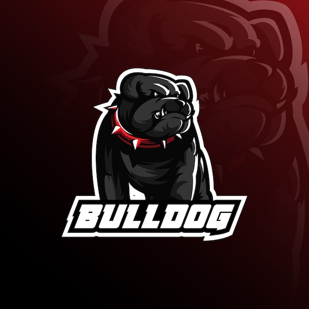 Bulldog vector mascot logo design with modern illustration Premium Vector