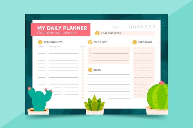 Bullet journal planner template Premium Vector
