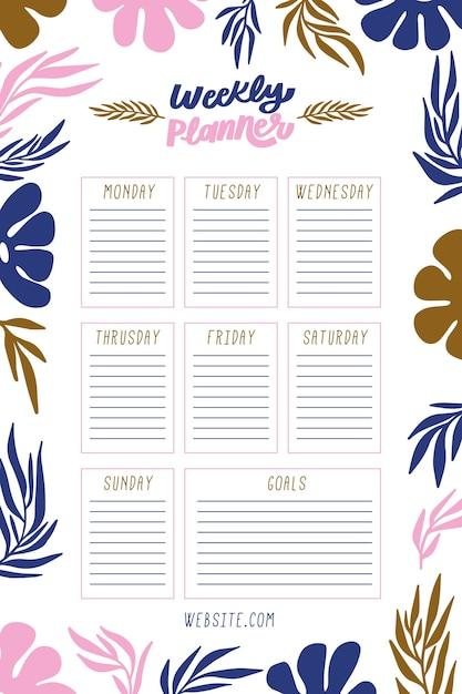 Bullet journal con piante colorate Vettore gratuito