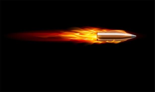 Bullet vector. Bullet in fire. Vector | Free Download