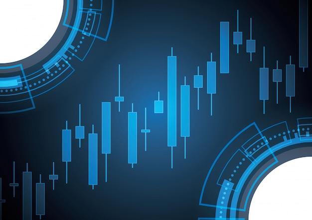 Bullish stock market candle stick Premium Vector