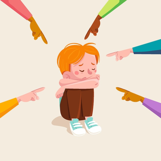 Bullying concept illustrated Premium Vector