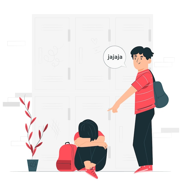 Bullying concept illustration Free Vector