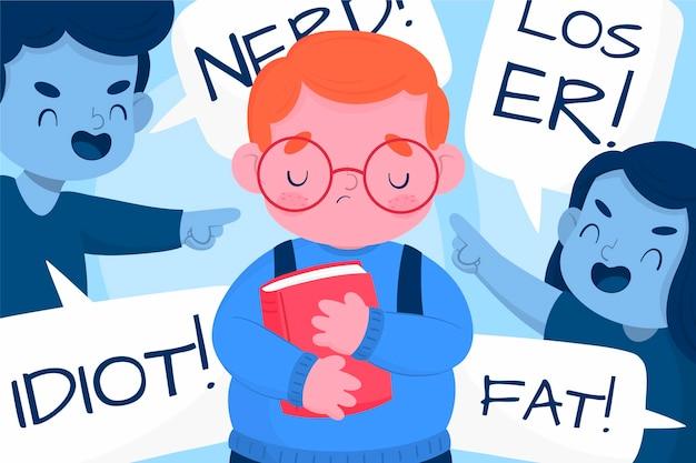 Bullying illustration concept Free Vector