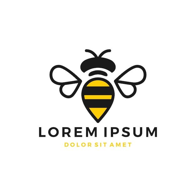Логотип bumble bee Premium векторы