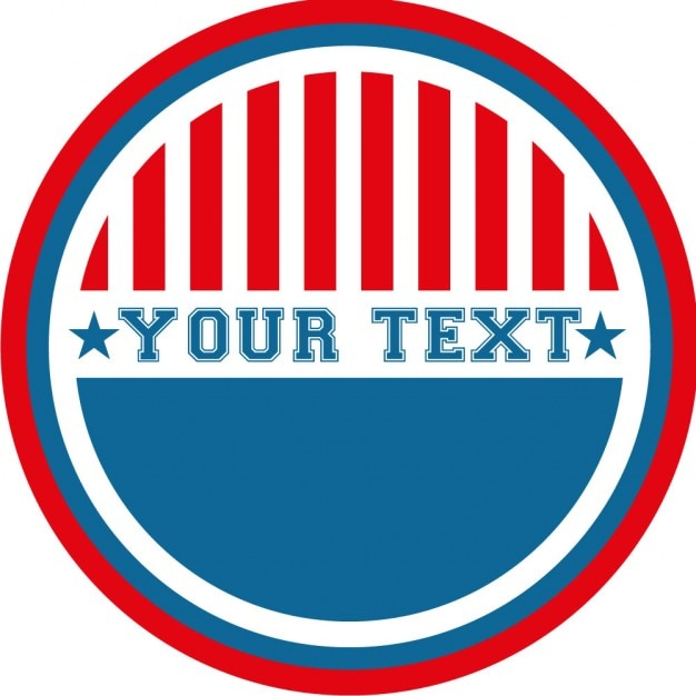Bumper sticker with american colors Free Vector