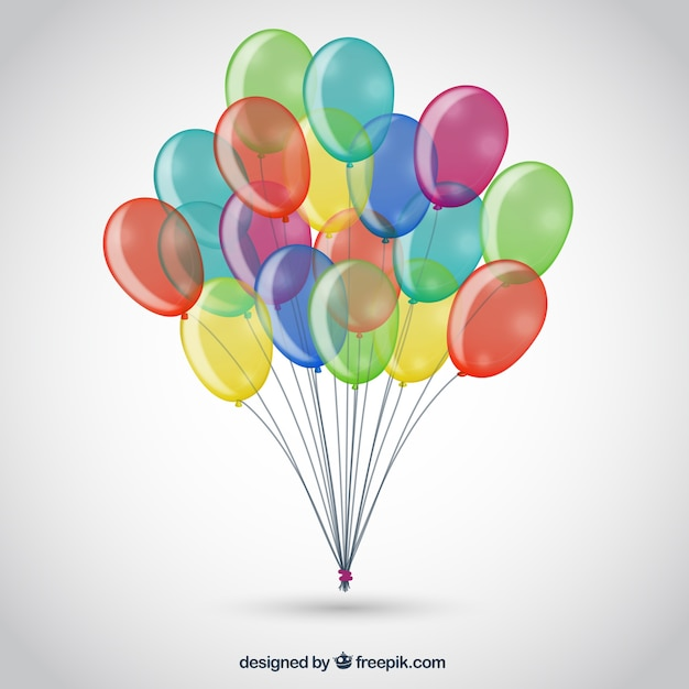 Bunch of colorful balloons Free Vector