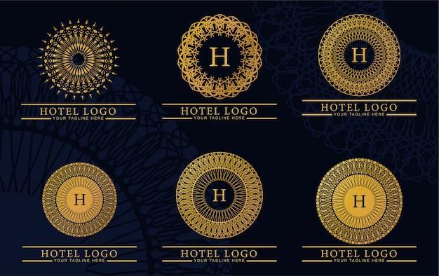Bundle luxury and elegant logo monogram Premium Vector