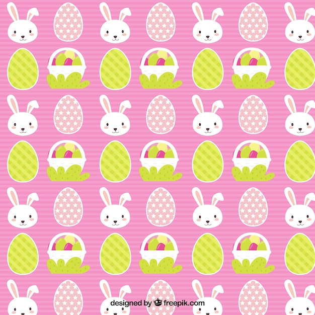 bunny and basket easter pattern stock images page everypixel
