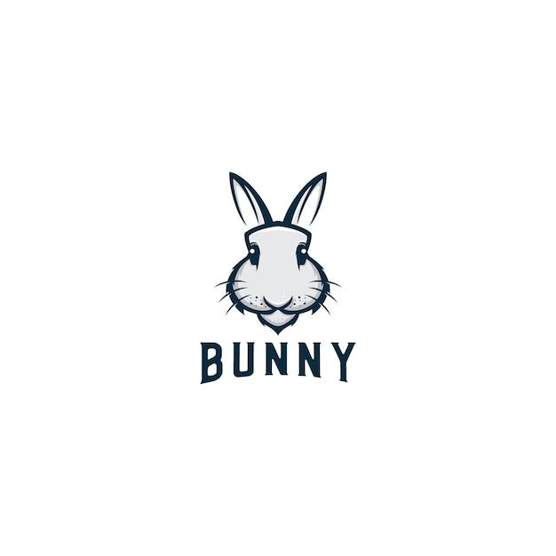 Bunny animal mascot logo design vector Premium Vector