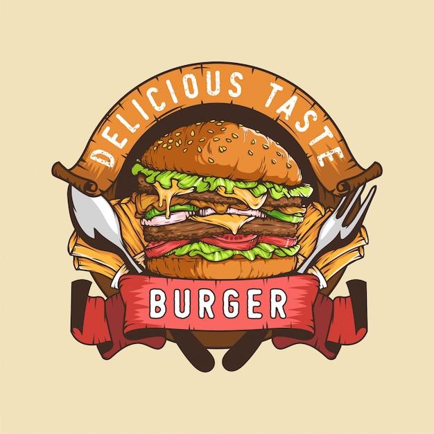 Burger logo Premium Vector