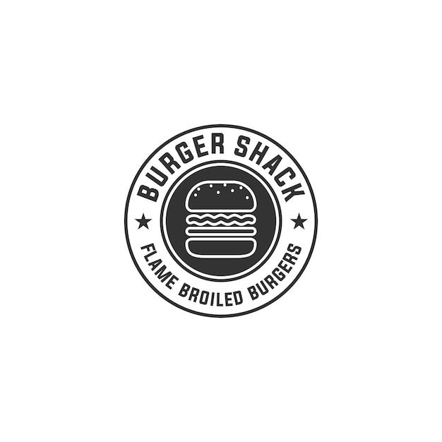 バーガーのロゴ Premiumベクター