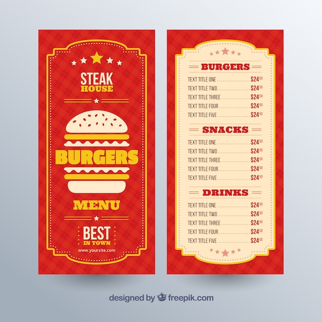 Elegant Menu Design Vector  Free Download
