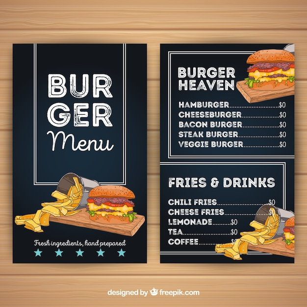 download vector burger menu template with great colors vectorpicker