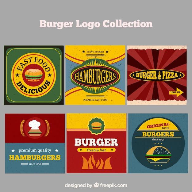 Burger restaurant logo collection