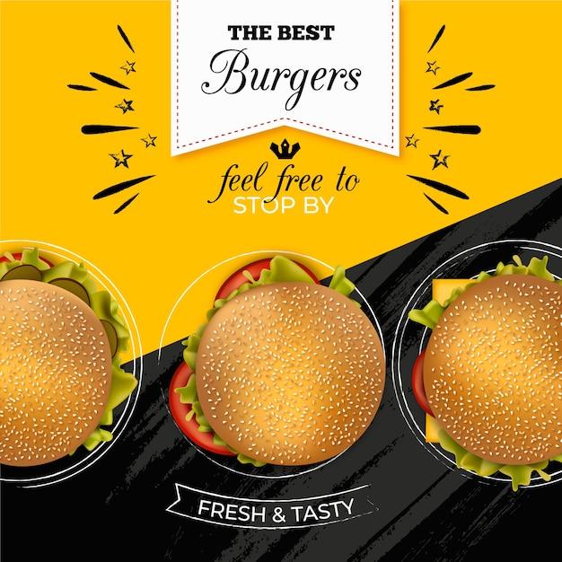 Burger ресторан рекламный баннер Бесплатные векторы
