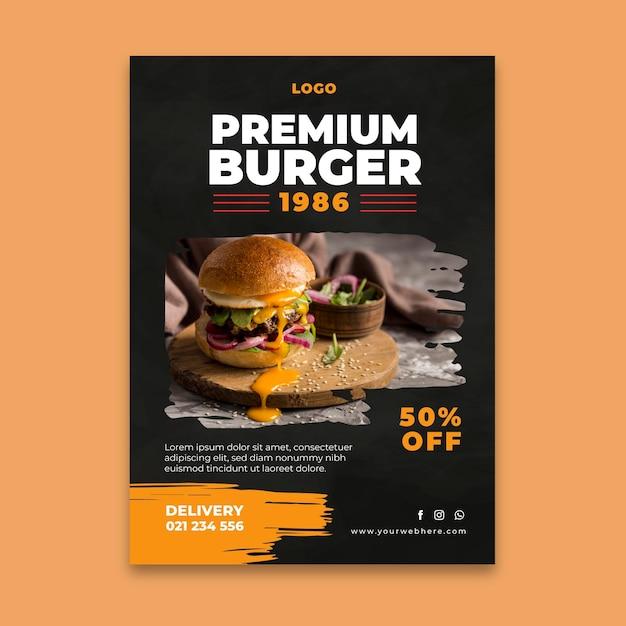 Шаблон флаера для гамбургеров Бесплатные векторы