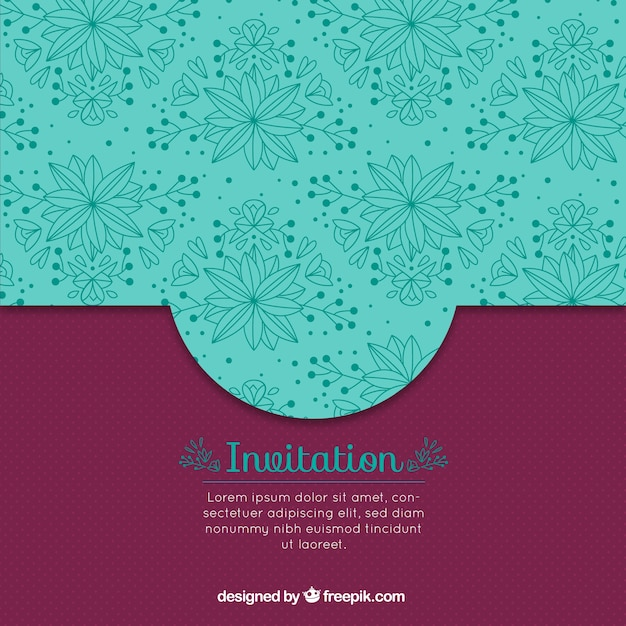 Burgundy vintage invitation vector free download burgundy vintage invitation free vector stopboris Image collections