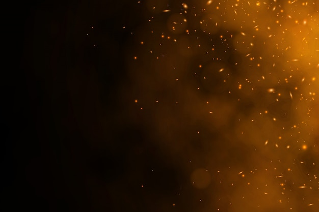 Burning red vector embers background Premium Vector