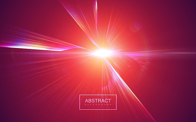 Bursting light rays abstract background Premium Vector