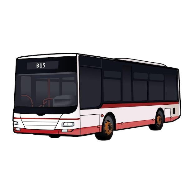 버스 대 중 교통 차량 벡터 프리미엄 벡터
