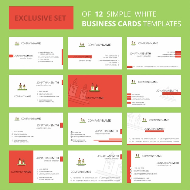 Свечи busienss card шаблон. редактируемый креативный логотип и визитная карточка Бесплатные векторы