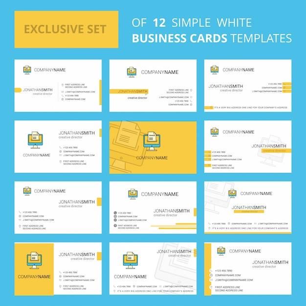 Загрузка документа шаблон карточки busienss. редактируемый креативный логотип и визитная карточка Бесплатные векторы
