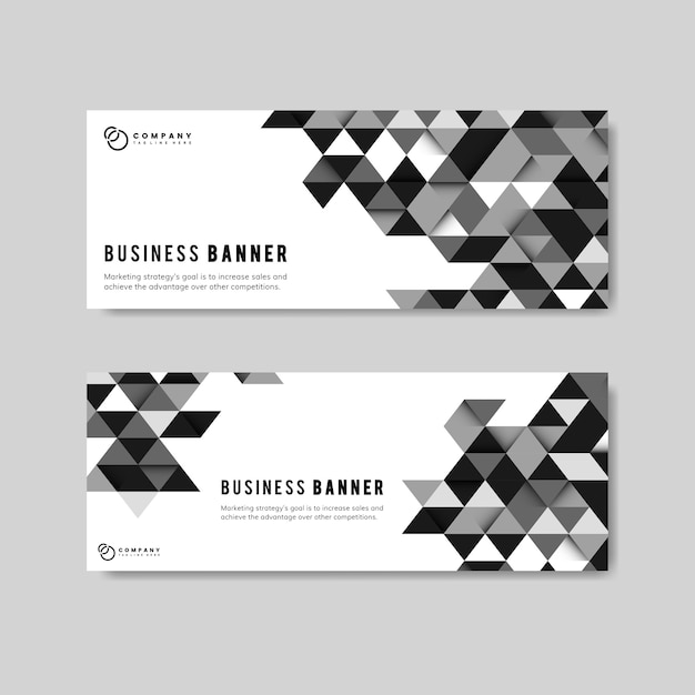 Business abstract banner set Free Vector