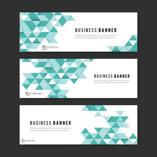 Business Abstract Banner Set Vector Free Download