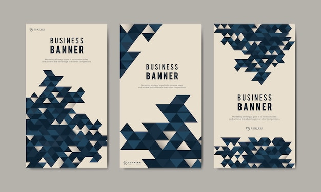 Business abstract banner template set Free Vector